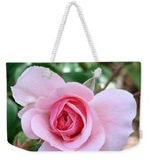 Pink Rose - Square Print Weekender Tote Bag