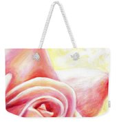 Pink Rose Panel Two Of Four Weekender Tote Bag