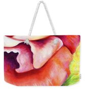 Pink Rose Two Panel Four Of Four Weekender Tote Bag