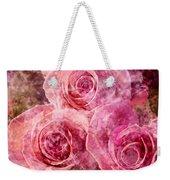 Pink Roses And Pearls Weekender Tote Bag