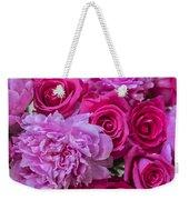Pink Roses And Peonies Please Weekender Tote Bag