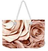 Pink Roses Bouquet Sketchbook Effect Weekender Tote Bag