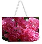 Pink Roses In Sunlight Weekender Tote Bag