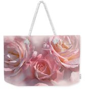Pink Roses In The Mist Weekender Tote Bag