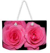 Pink Roses With Brush Stroke Effects Weekender Tote Bag
