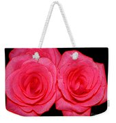 Pink Roses With Colored Edges Effects Weekender Tote Bag