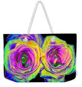 Pink Roses With Colored Foil Effects Weekender Tote Bag