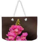 Pink Snapdragon Weekender Tote Bag