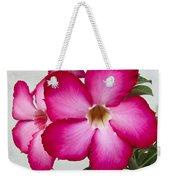 Pink Star Flower Weekender Tote Bag