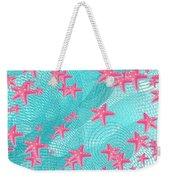 Pink Starfish Weekender Tote Bag