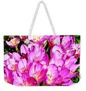 Pink Summer Blossoms Weekender Tote Bag
