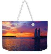 Pink Sunset In Key West Florida Weekender Tote Bag by Susanne Van Hulst