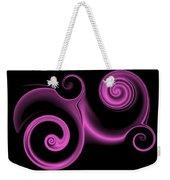 Pink Swirl On Black Weekender Tote Bag