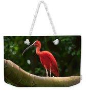 Pink Tropical Bird Weekender Tote Bag
