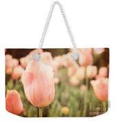 Pink Tulip Field Weekender Tote Bag