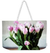 Pink Tulips In A Vase Weekender Tote Bag
