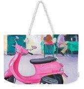 Pink Vespa Weekender Tote Bag