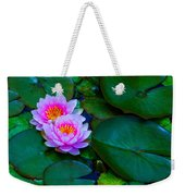 Pink Water Lilies - Lotus Weekender Tote Bag