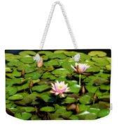 Pink Water Lilies Soft Focus Weekender Tote Bag