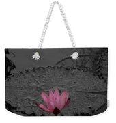 Pink Water Lilly Weekender Tote Bag