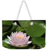Pink Water Lily Weekender Tote Bag