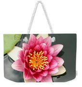 Pink Waterlily And Cloud Reflection Weekender Tote Bag