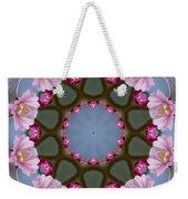 Pink Weeping Cherry Blossom Kaleidoscope Weekender Tote Bag