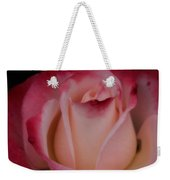 Pink White Rose Weekender Tote Bag