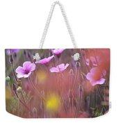 Pink Wild Geranium Weekender Tote Bag