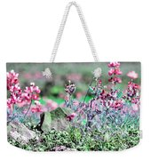 Pink Wildflowers Weekender Tote Bag