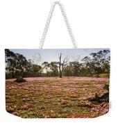 Pink Wildflowers Weekender Tote Bag