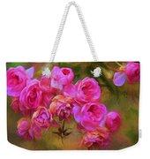 Pink Winter Roses Three Weekender Tote Bag