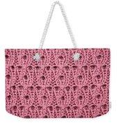 Pink Wool Weekender Tote Bag
