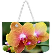 Pink Yellow Orchid Weekender Tote Bag