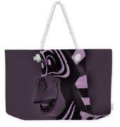 Pink Zebra Weekender Tote Bag