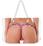 Pink Zebra Thong Weekender Tote Bag