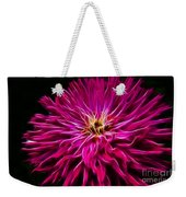 Pink Zinnia Digital Wave Weekender Tote Bag