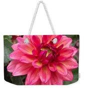 Pink Zinnia Flower Weekender Tote Bag