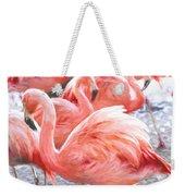 Pinked Flamingos Weekender Tote Bag