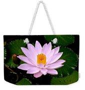 Pinkish Lotus Flower Weekender Tote Bag