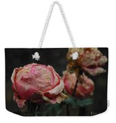 Pink Roses In The First Snow I V Weekender Tote Bag