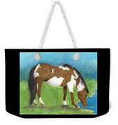 Pinto Mustang Horse Mare Farm Ranch Animal Art Weekender Tote Bag