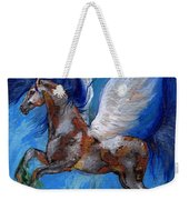 Pinto Pegasus With Blue Mane Weekender Tote Bag