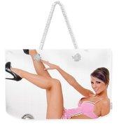 Pinup Girl In Pink Weekender Tote Bag