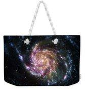 Pinwheel Galaxy Rainbow Weekender Tote Bag