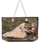 Pioneer Mother And Children Weekender Tote Bag