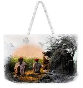 Pipe Smoking Ritual Chillum India Rajasthan 2 Weekender Tote Bag