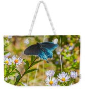Pipevine Swallowtail On Asters Weekender Tote Bag