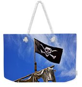 Pirate Flag On Ships Mast Weekender Tote Bag