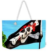 Pirate Ship Flag Of The Skull And Crossbones Weekender Tote Bag